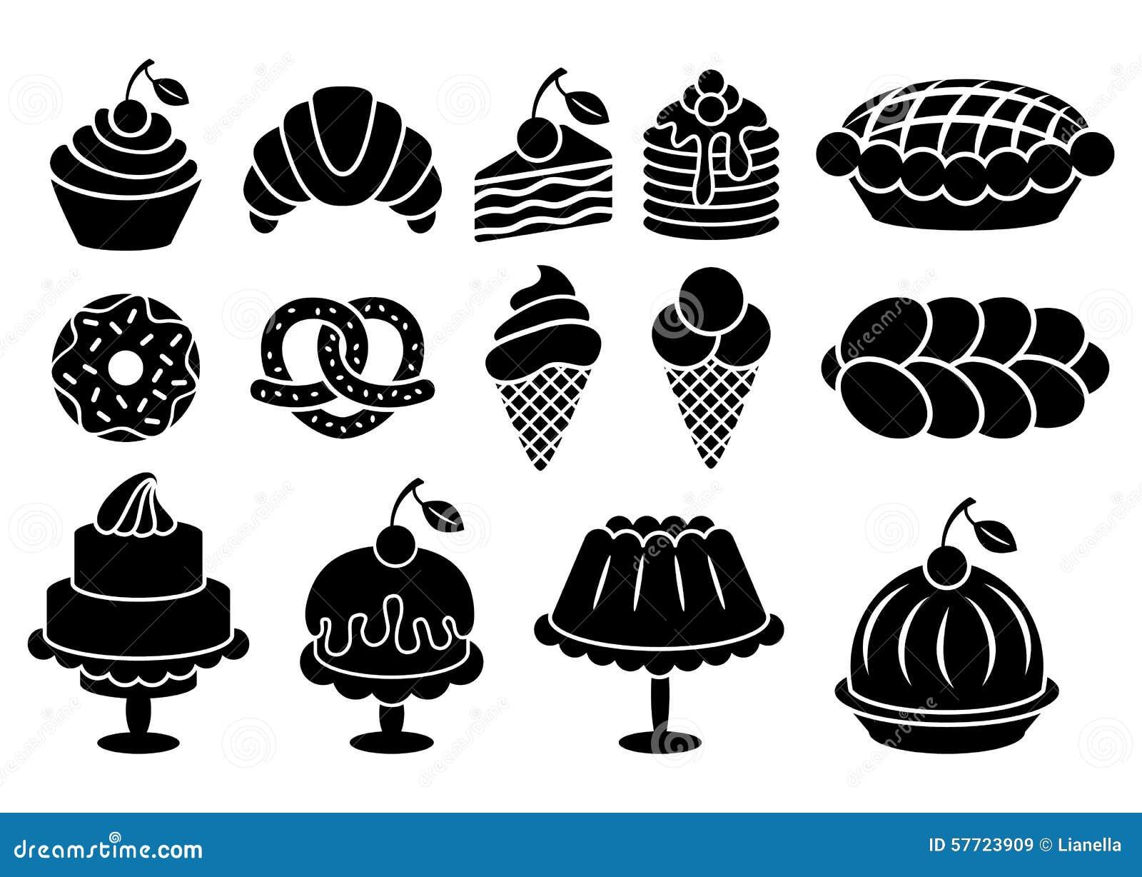 Black And White Cake And Ice Cream