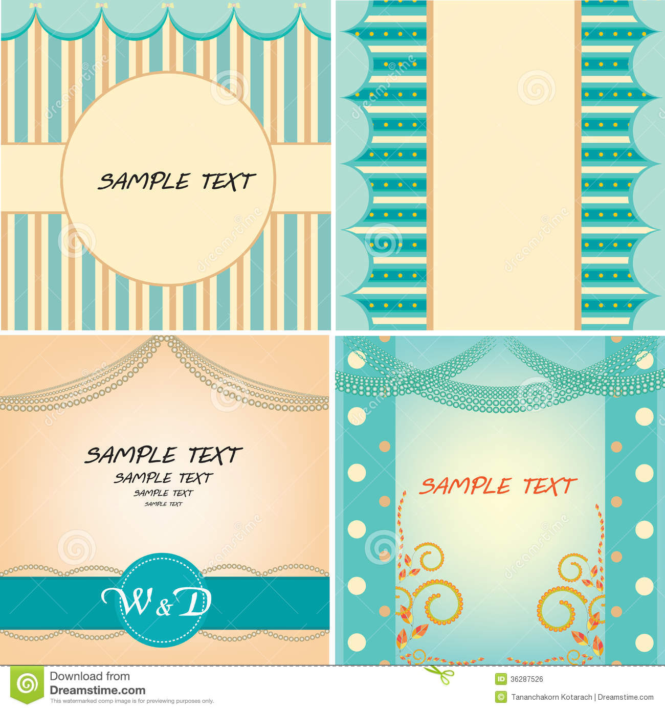 sweet sixteen program template - sweet blue template royalty free stock image image 36287526
