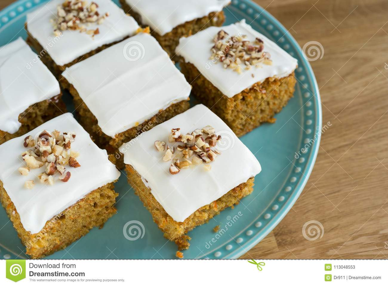 Sweet Carrot Cake Stock Image Image Of Carrots Ginger 113048553