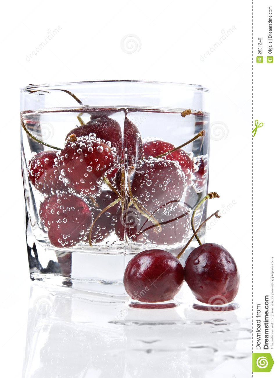 Sweet Cherry And Mineral Water Stock Photo - Image: 2631240