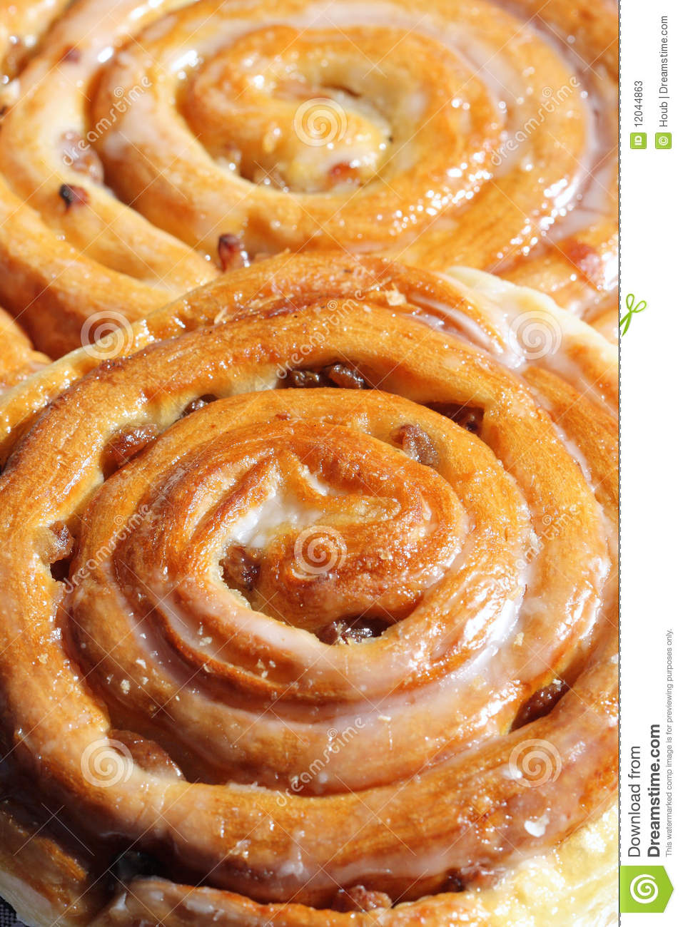 Sweet Cinnamon Raisin Buns Stock Photos - Image: 12044863