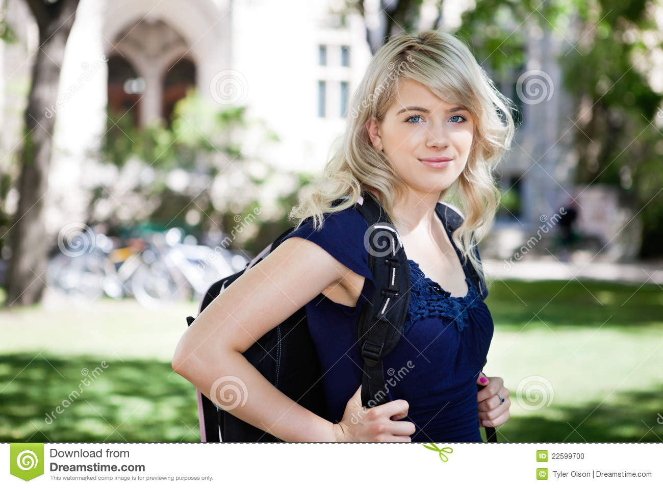 sweet college girl stock photo. image of pretty, building - 22599700