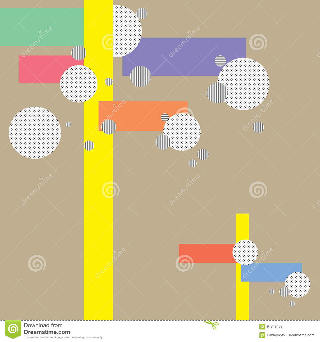 Sweet Color Line and Circle Background