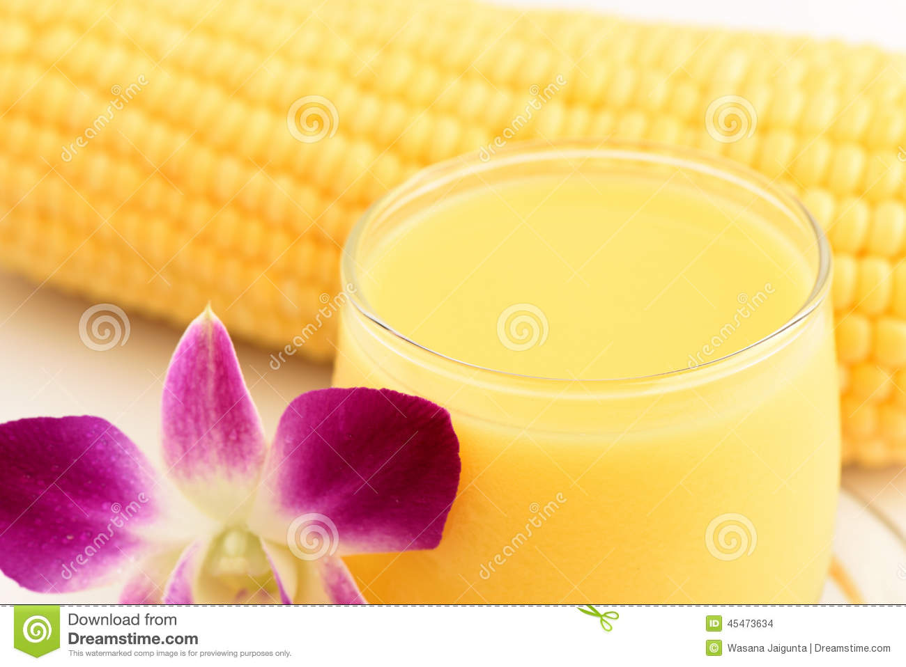 Sweet corn juice., Drink from natural ingredients that are beneficial ...