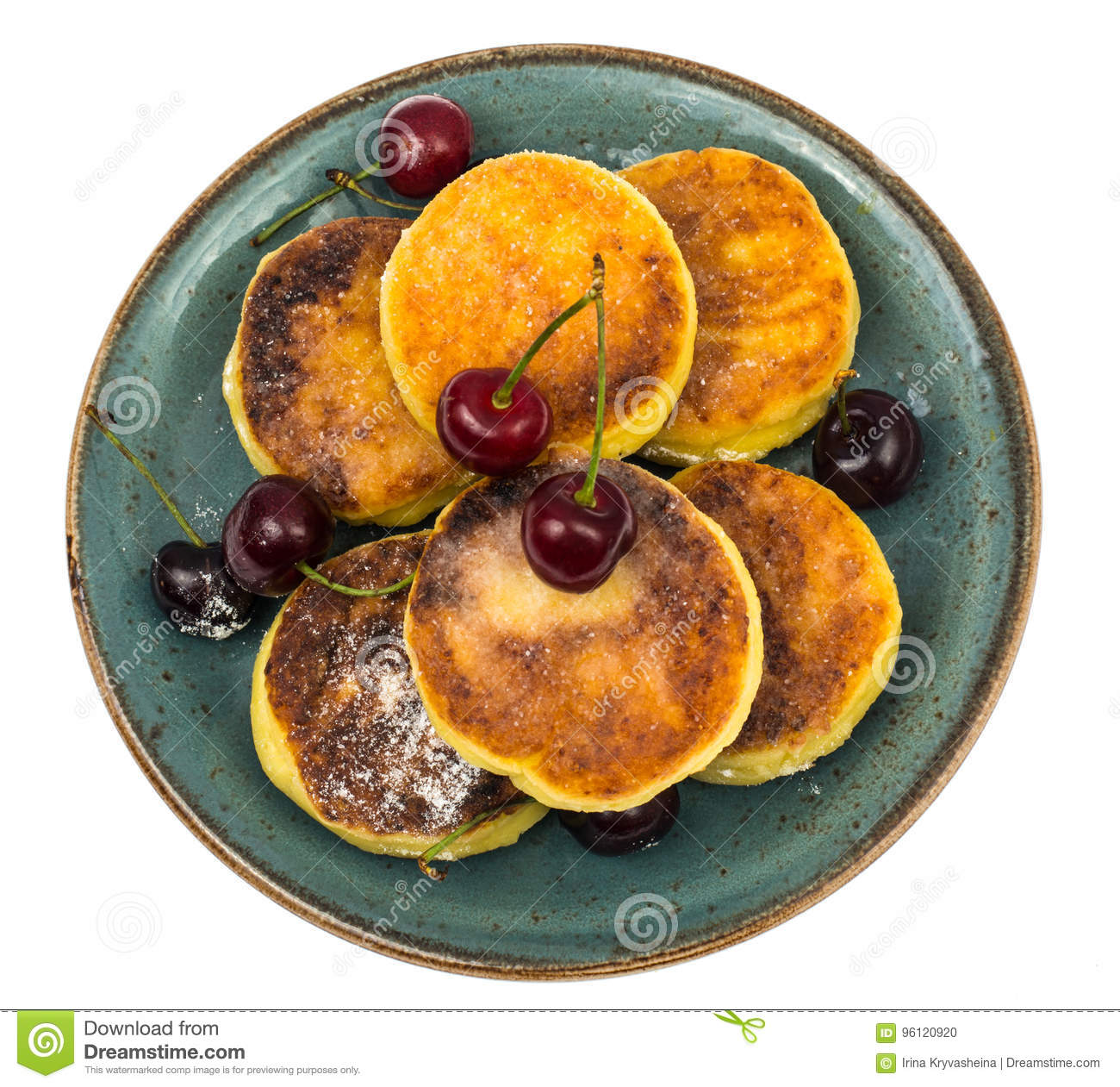 Magnificent Sweet Cottage Cheese Pancakes With Powdered Sugar On Plate Download Free Architecture Designs Rallybritishbridgeorg