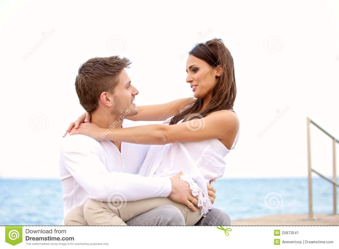 Sweet Couple Looking At Each Other Stock Image