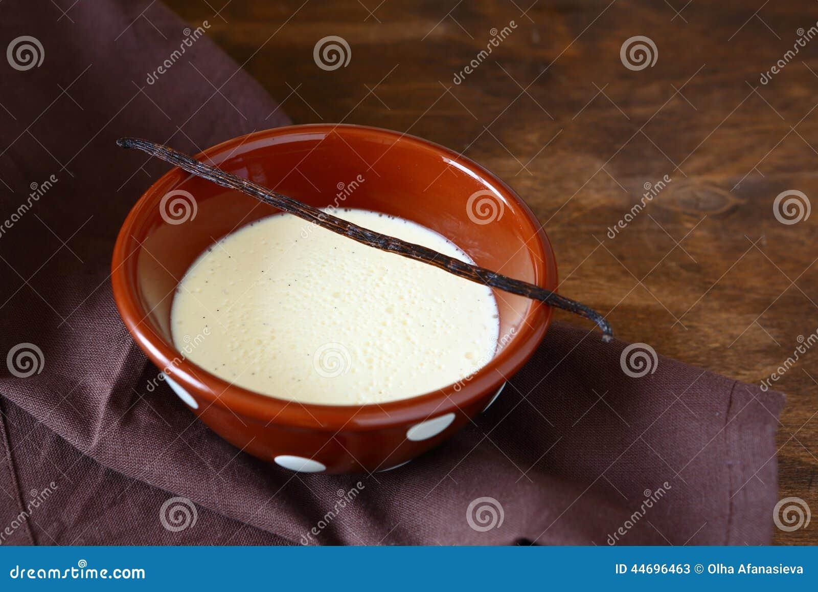 Sweet Cream With Vanilla Stock Photo - Image: 44696463