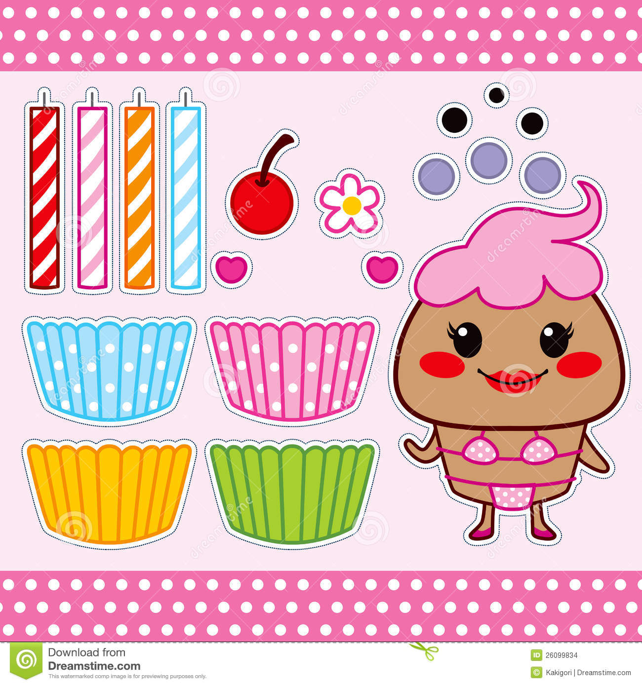 Sweet Cupcake Paper Doll Stock Vector Image Of Doll