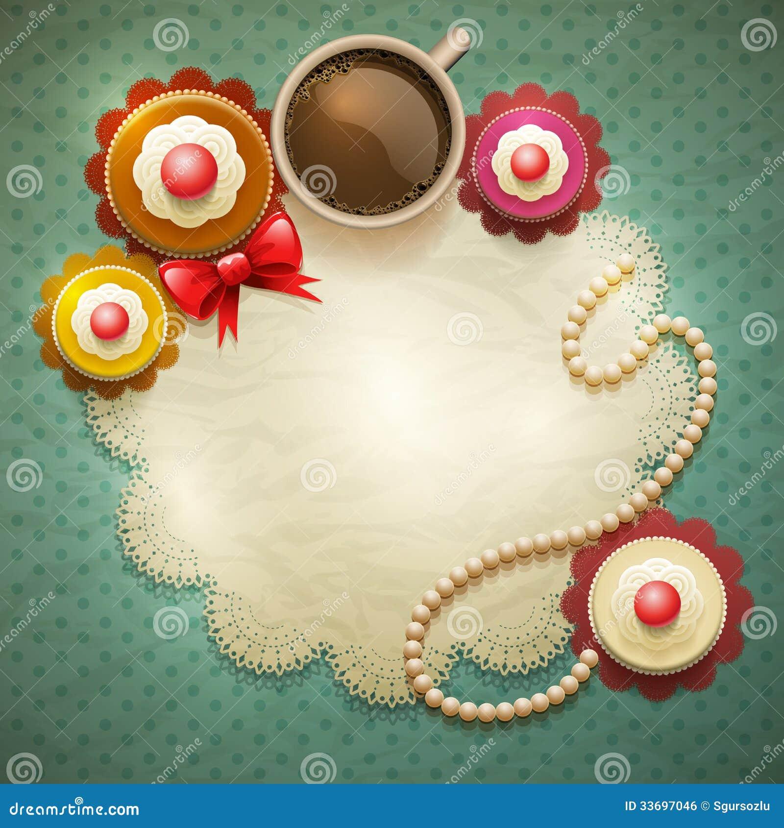 Sweet Cupcakes Background Royalty Free Stock Image Image