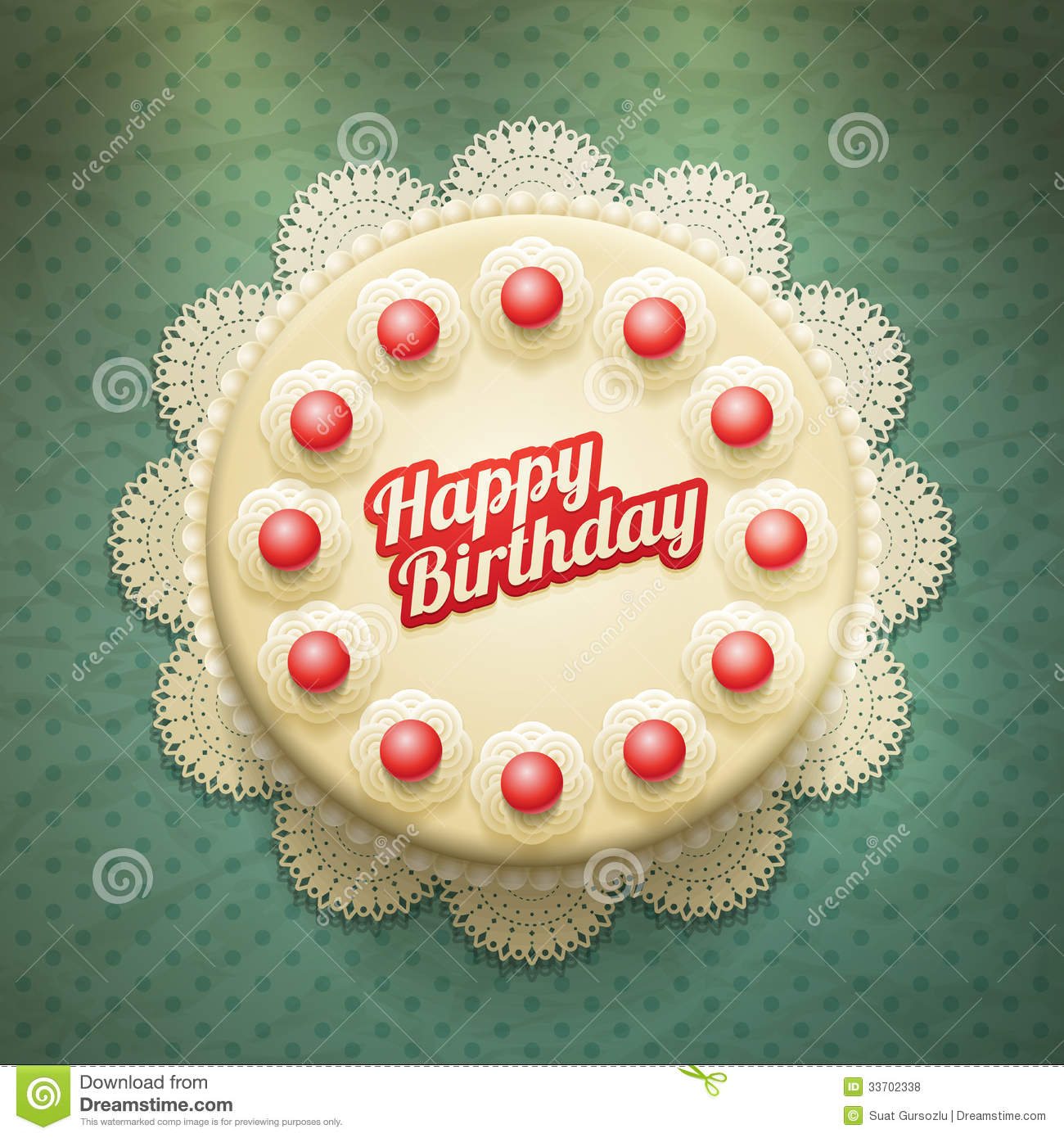 Birthday Cake Stock Vector Image Of Decorative Backdrop