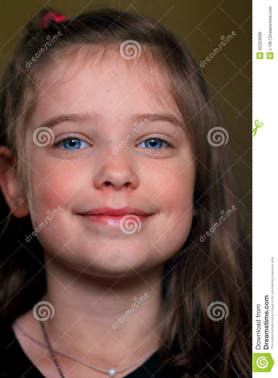 sweet cute little girl stock photo   image 55263686