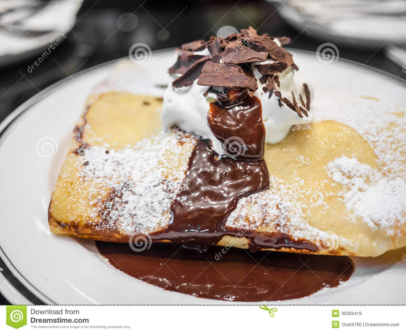 Fotos De Stock Chat9780: Chocolate Crepe Royalty Free Stock Images