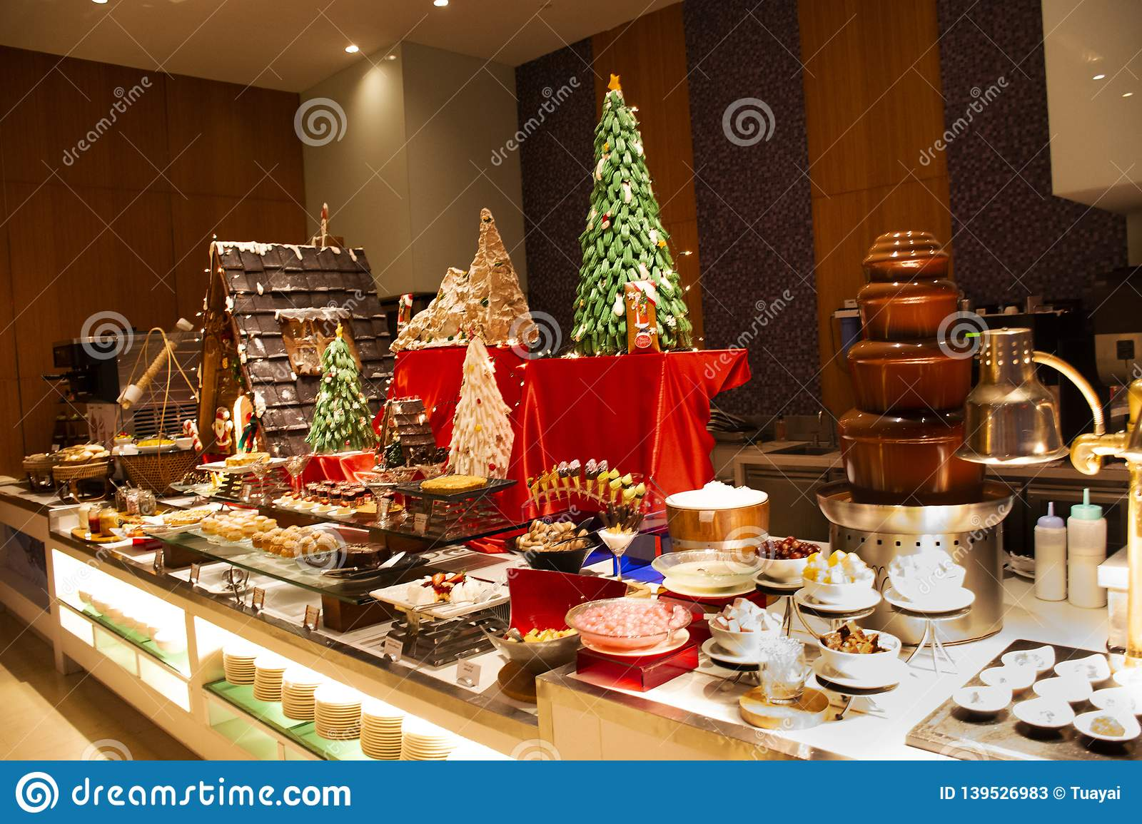 Remarkable Sweet Dessert Snack And Cakes Line In Food Buffet Service Download Free Architecture Designs Grimeyleaguecom