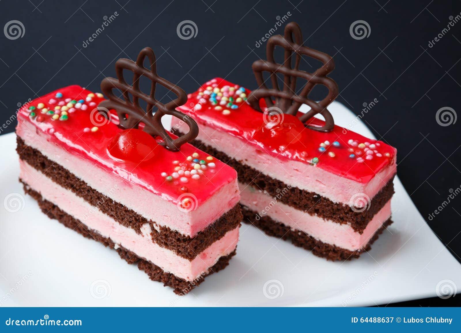 Sweet Desserts On A Black Background Stock Photo - Image: 64488637