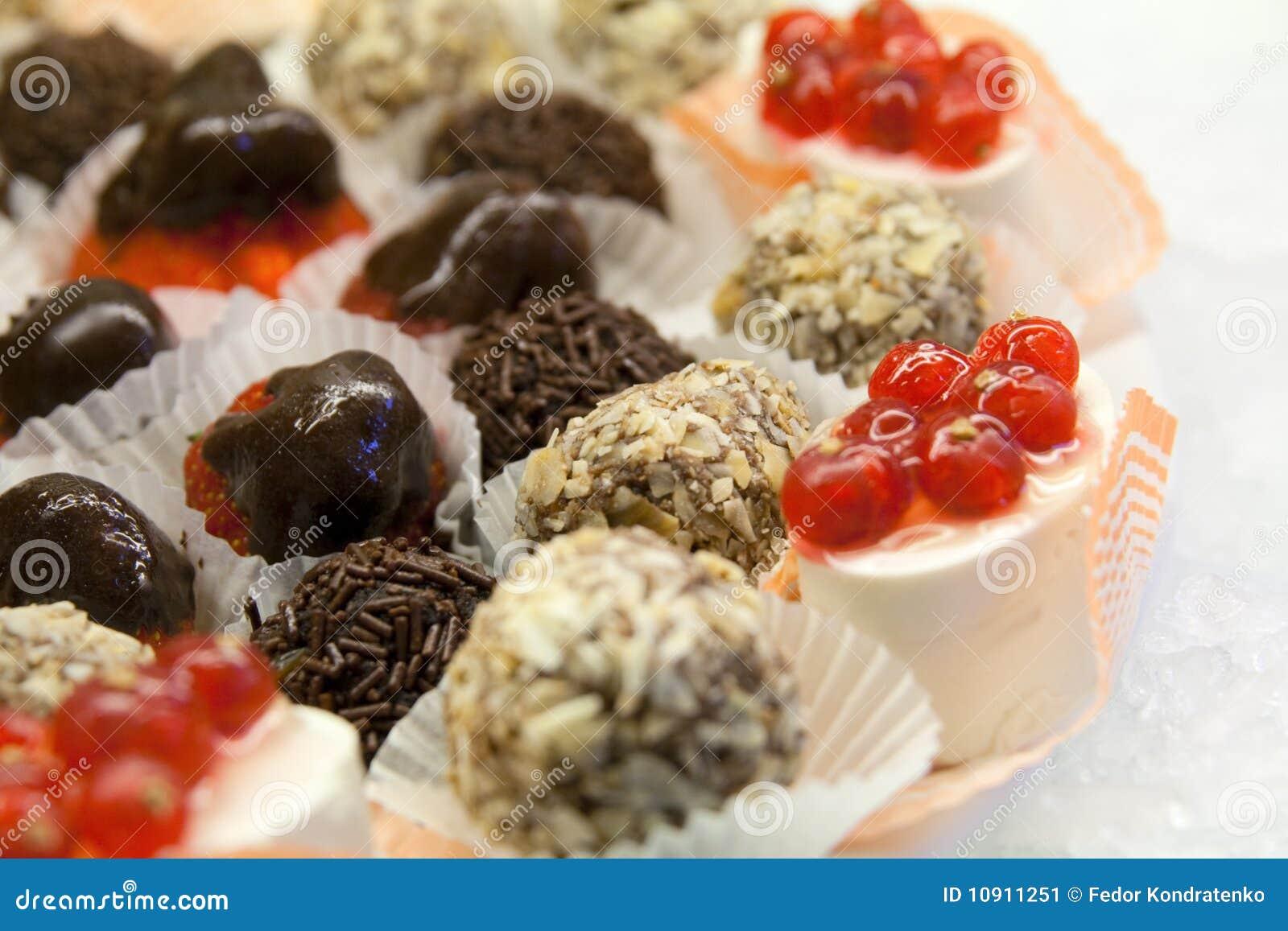 Sweet Desserts On Ice Stock Image - Image: 10911251
