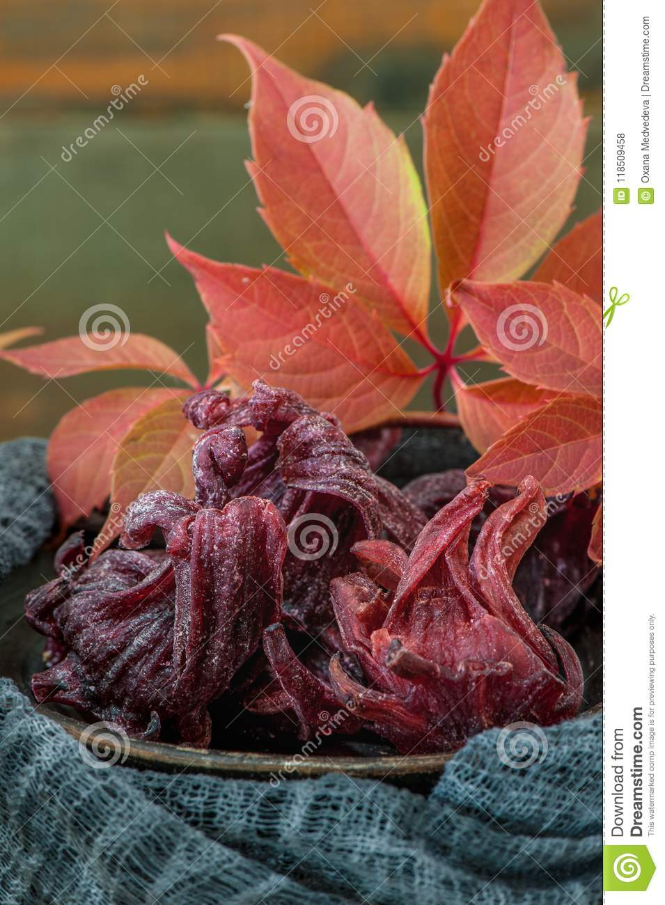 Sweet dried in syrup hibiscus flowers in close up copy space stock sweet dried in syrup hibiscus flowers in close up copy space izmirmasajfo