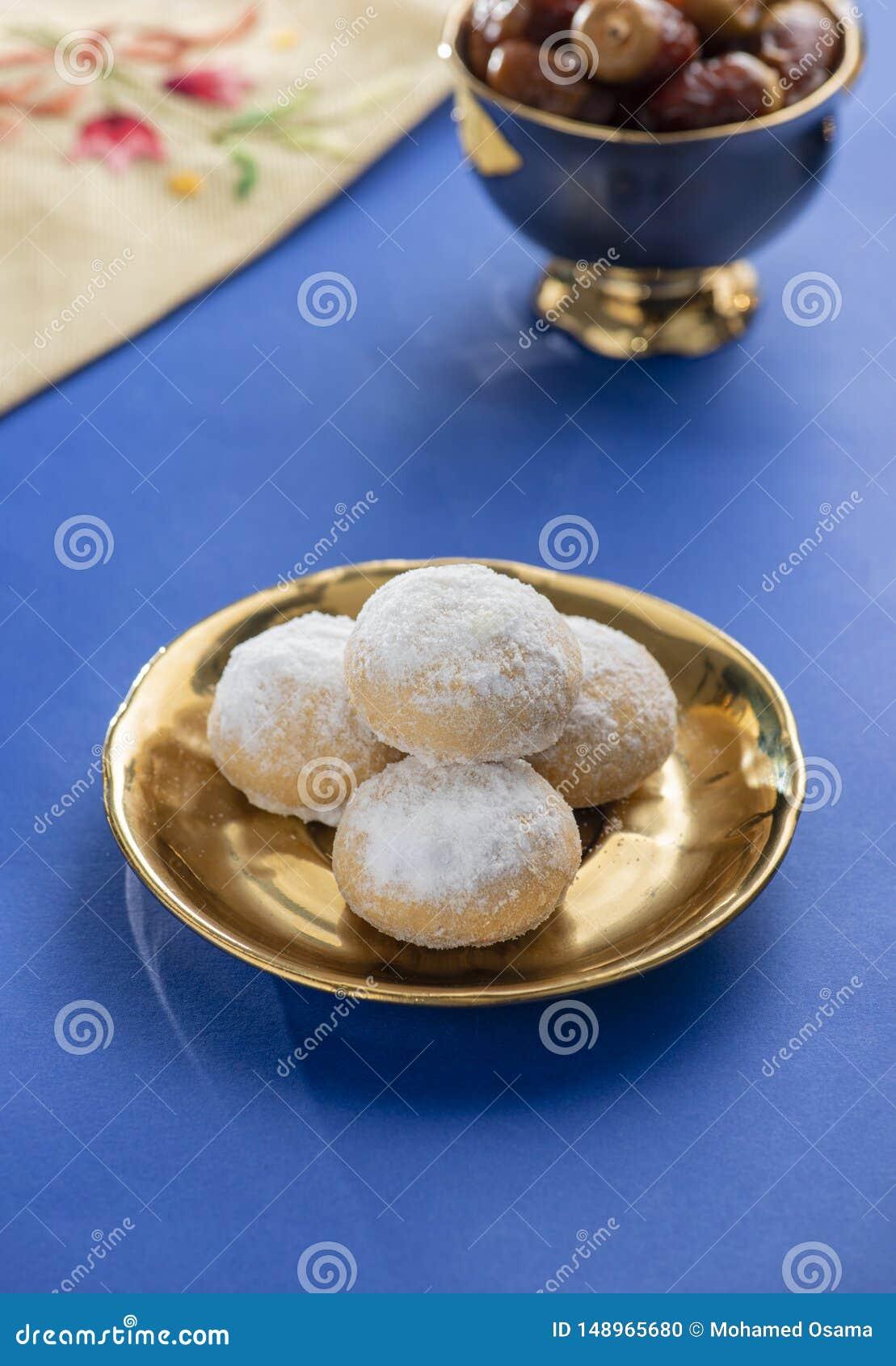 Sweet Eid El Fitr Cookies Dish, Muslim Lesser Holiday Traditional Sweets
