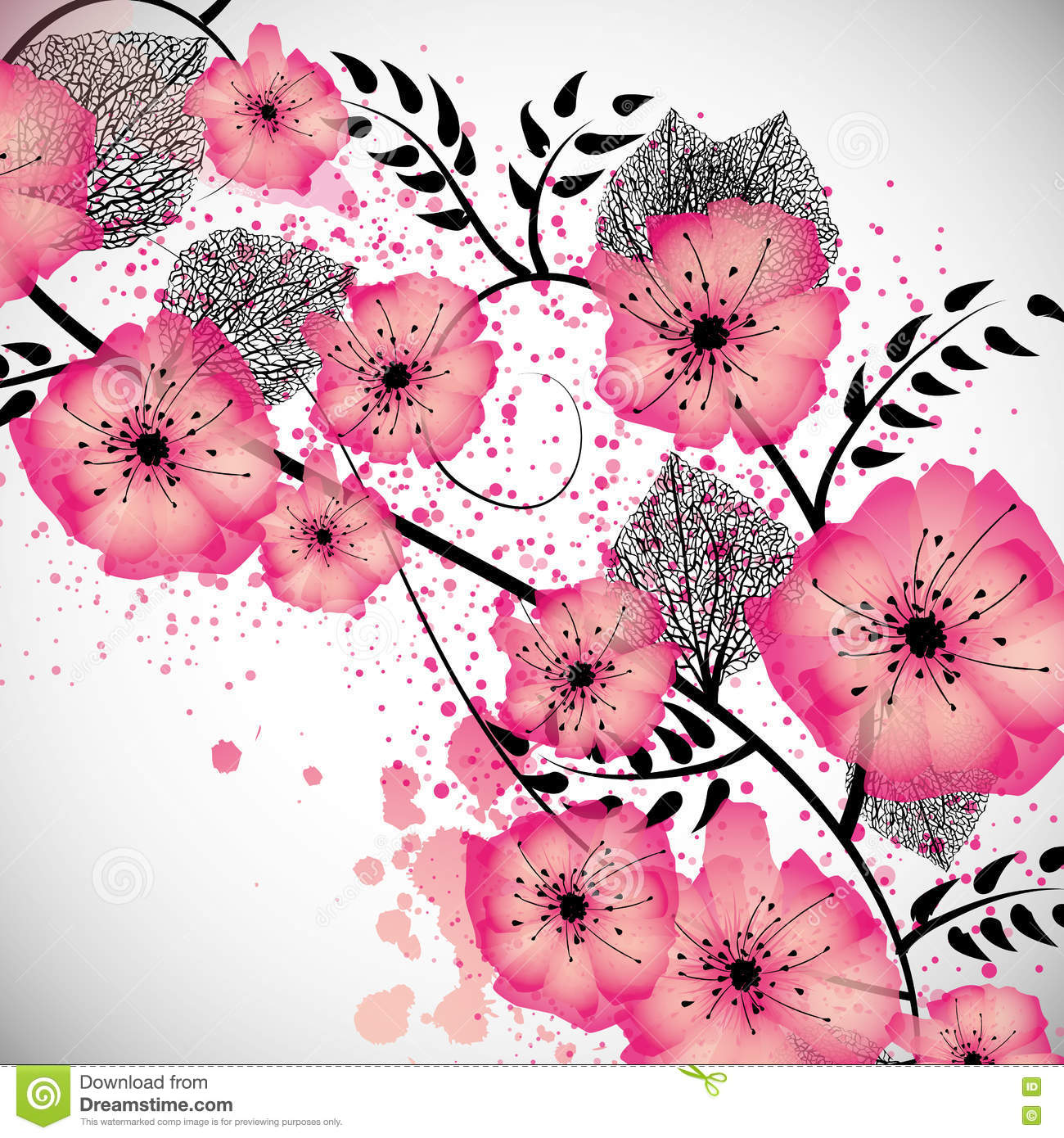 Sweet Flowers Background Stock Vector Illustration Of Soft 75350702