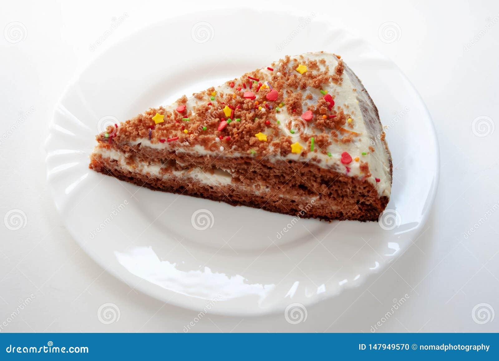 Sweet Fresh Homemade piece of cake