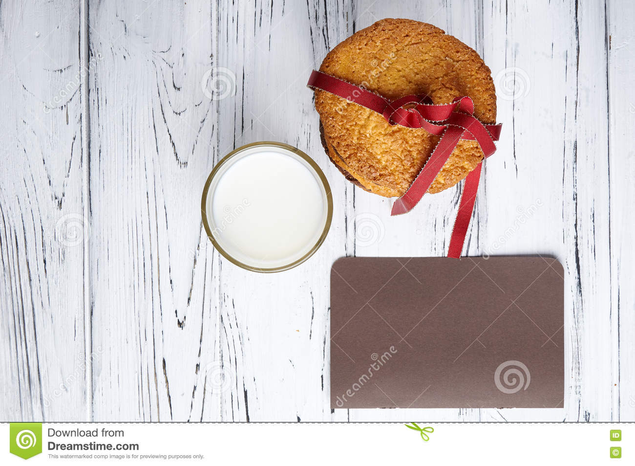 Sweet Gift And A Note For Santa Claus Stock Photo Image Of Dinner