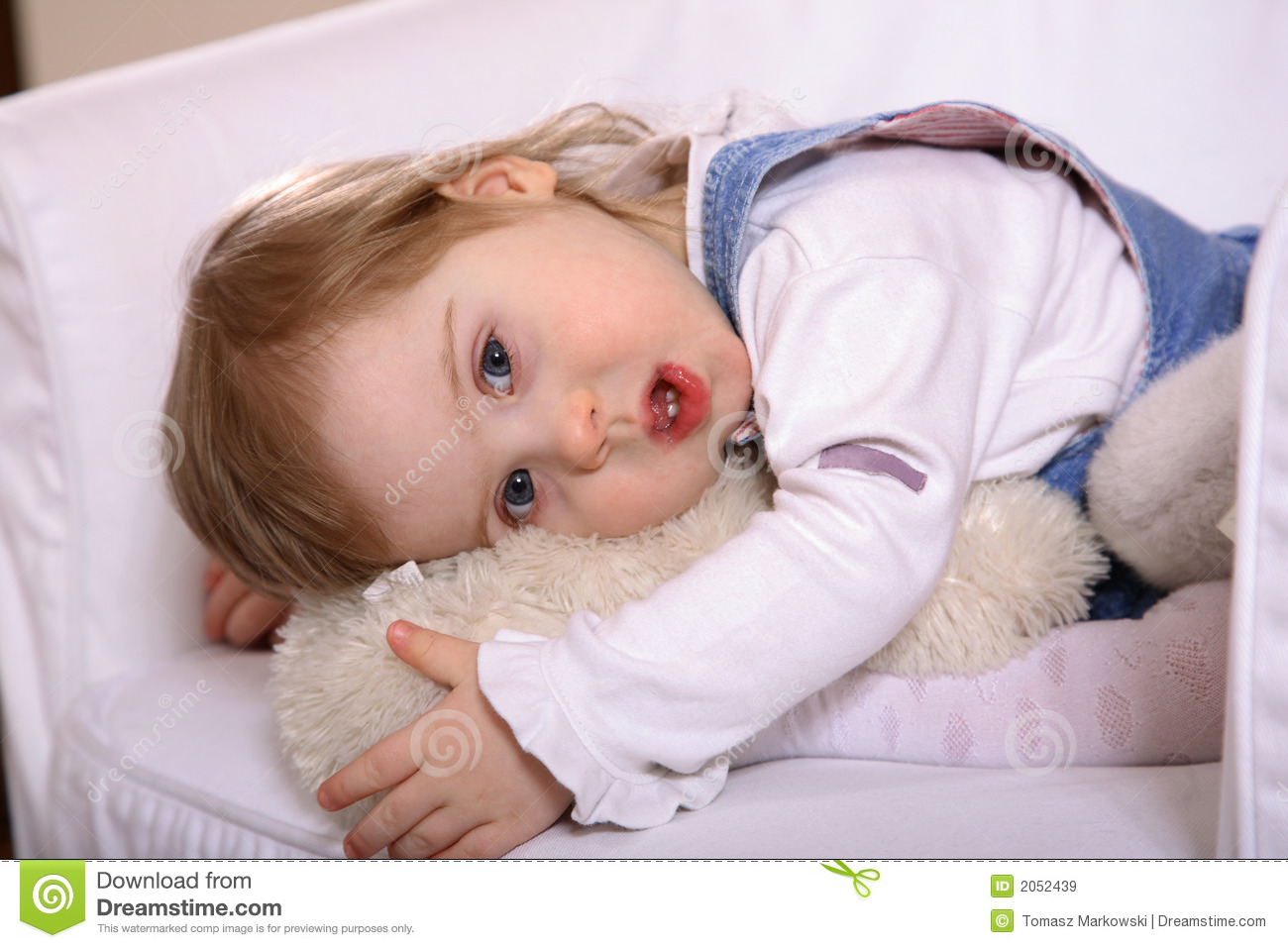 Sweet Handicapped Baby Girl Royalty Free Stock Images   Image  2052439