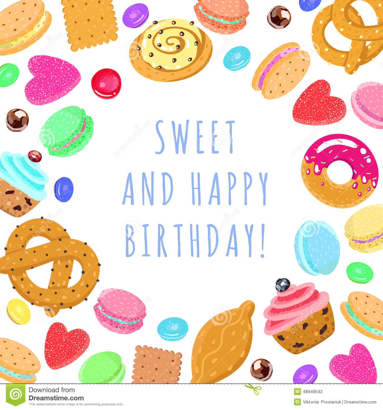 sweet happy birthday vector multicolored card and cotton candy clipart free candy clipart free