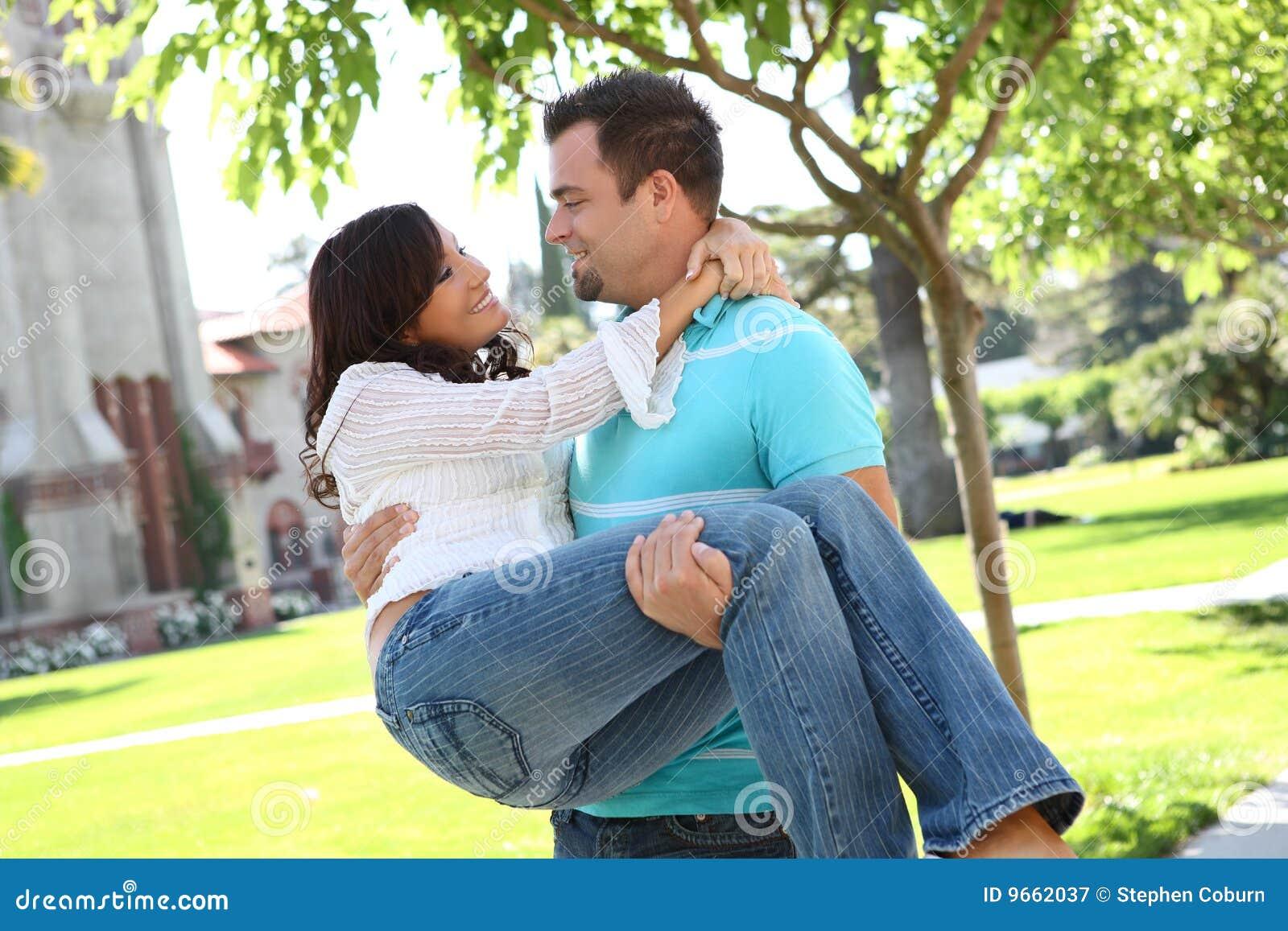 Sweet happy couple in love