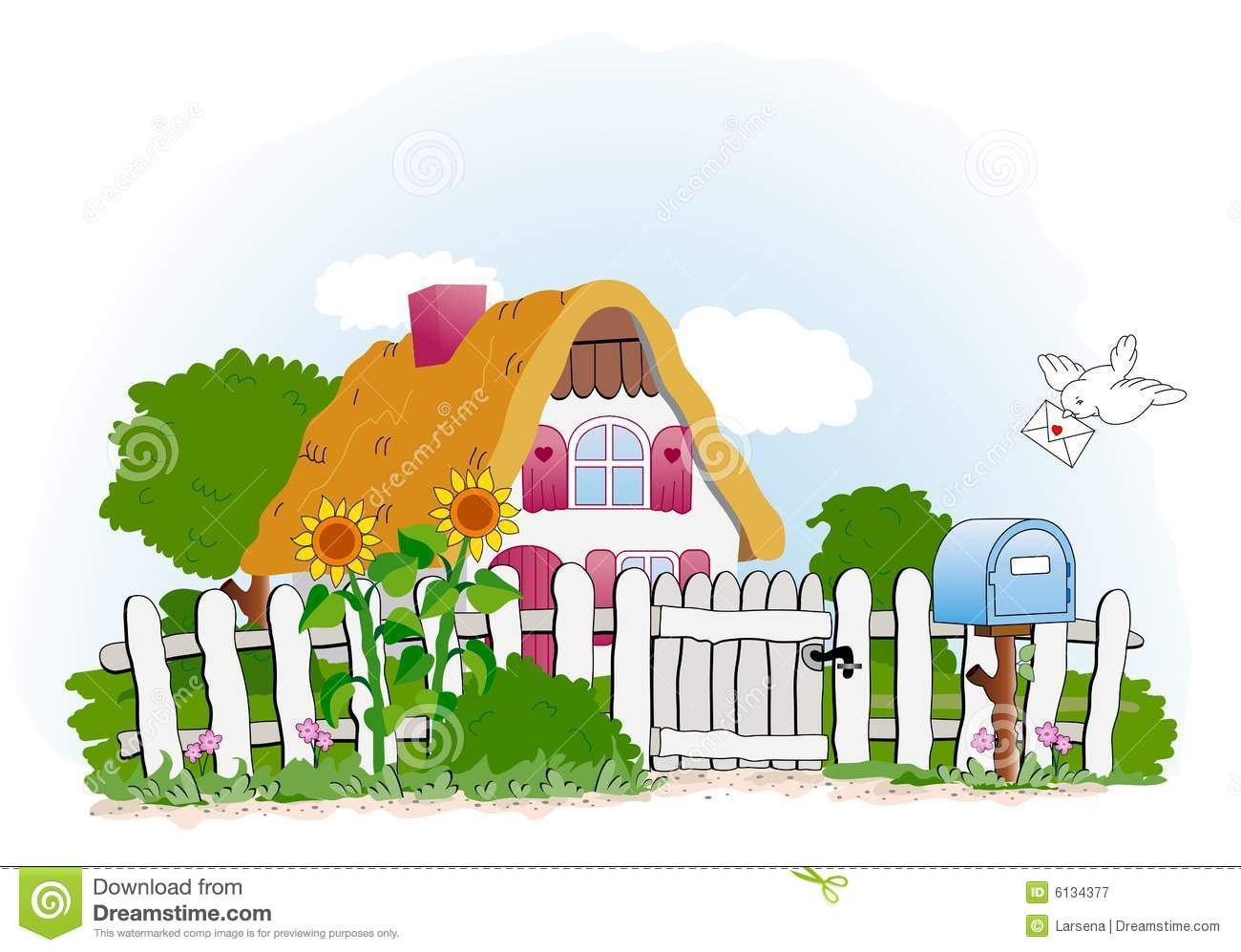 Sweet Home Stock Vector Illustration Of Landscape House