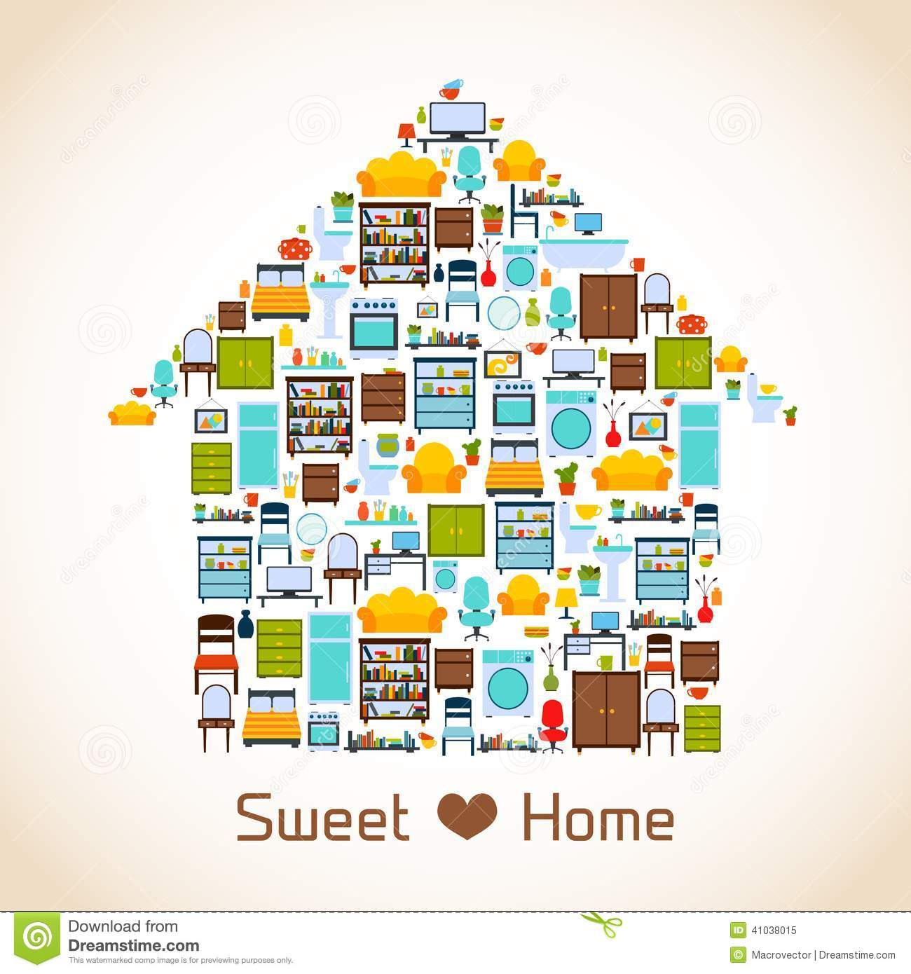 Sweet Home Concept Stock Vector Image 41038015