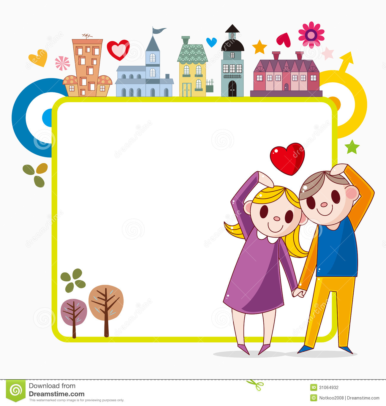 Sweet home frame stock photography image 31064932