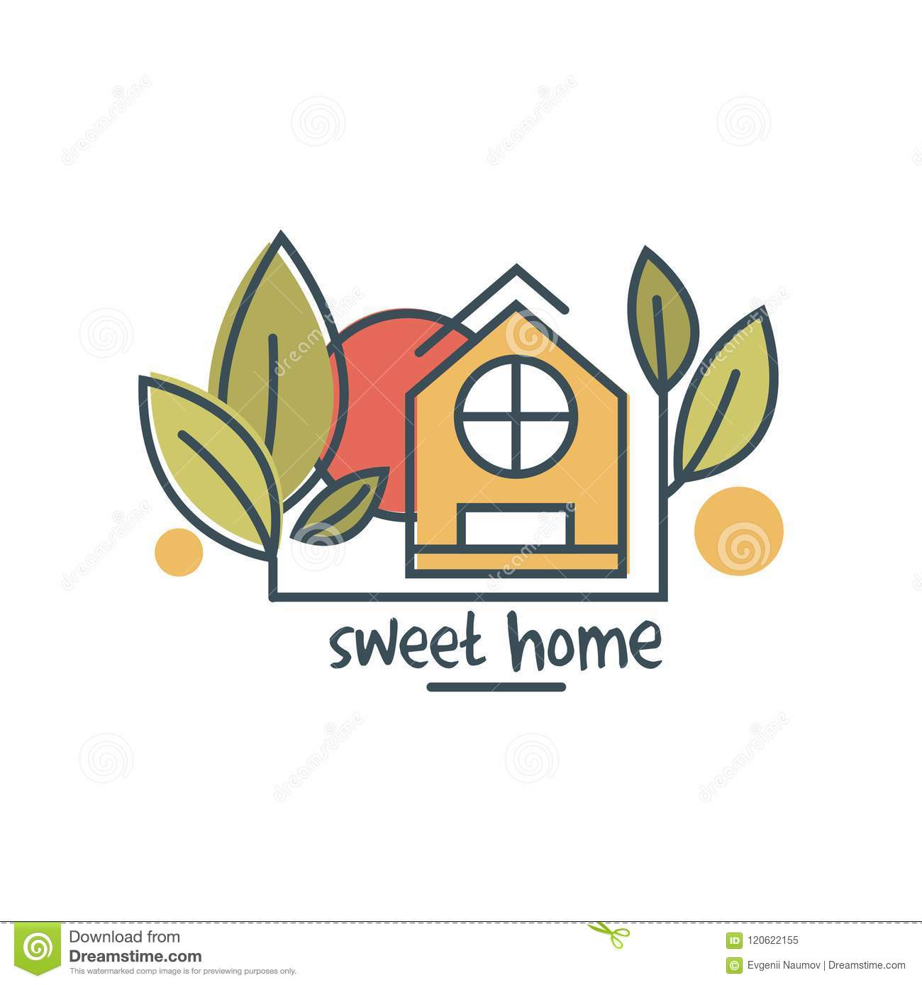 Awesome Sweet Home Logo Template Design, Eco Friendly House Concept Vector  Illustration On A White Background