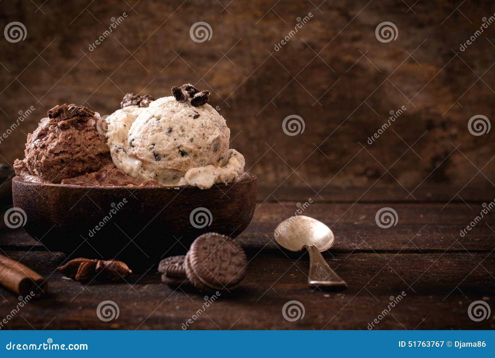 Sweet homemade ice cream