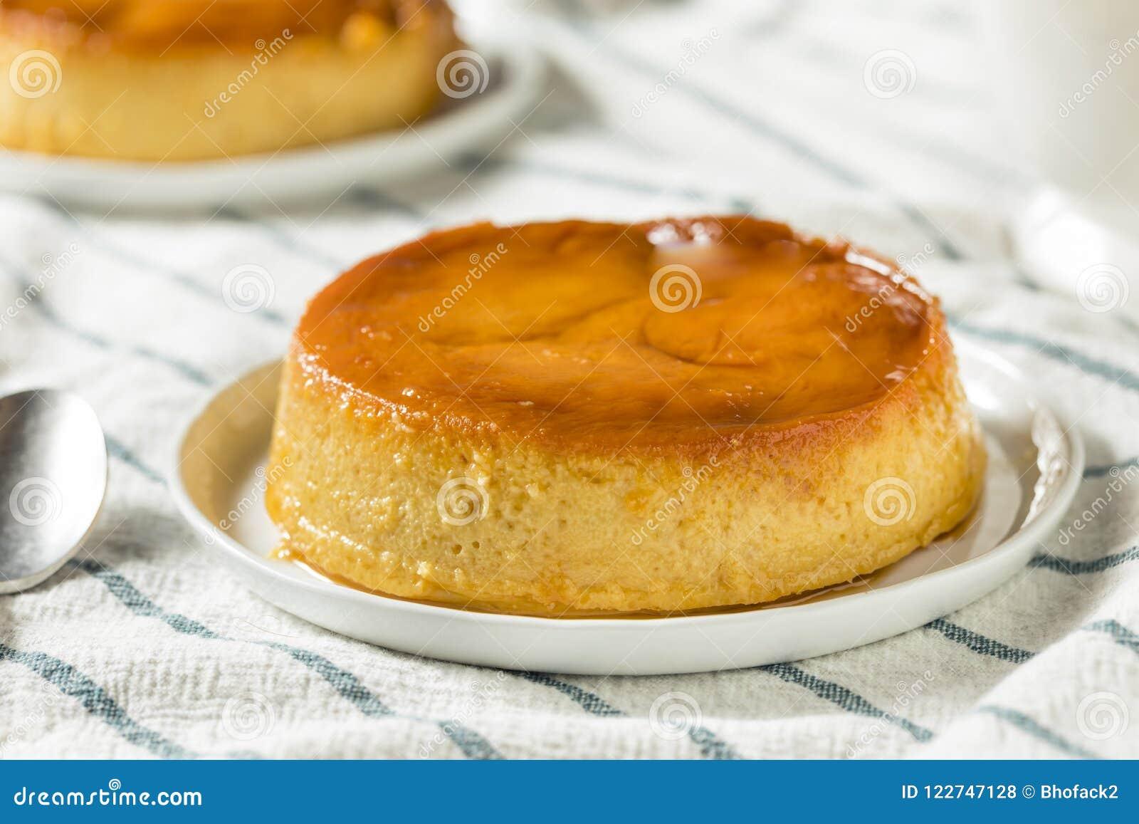 Sweet Homemade Spanish Flan Dessert