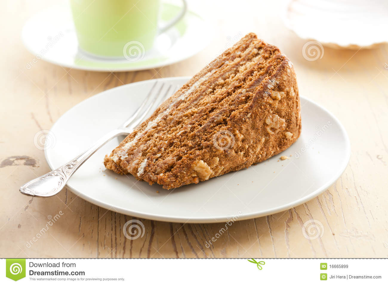 Clipart Of Honey Cake : Sweet Honey-cake Royalty Free Stock Images - Image: 16665899