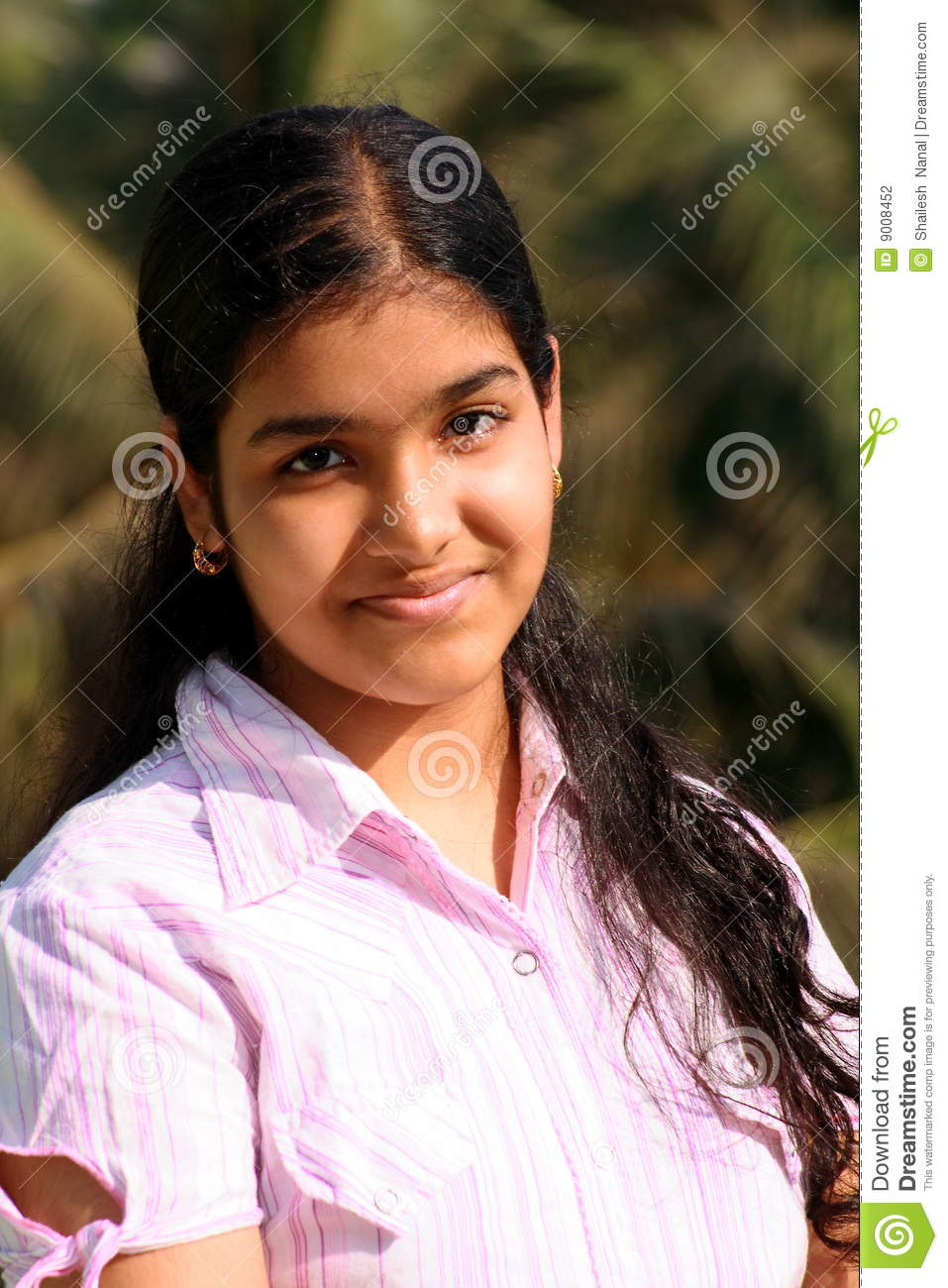 sweet indian college girl stock photo. image of fine, looks - 9008452