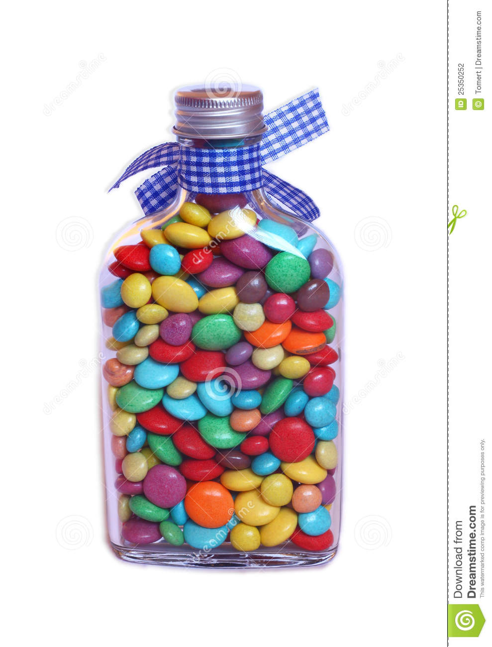 Sweet Jar Full Of Smarties On A White Background Stock Photography ...
