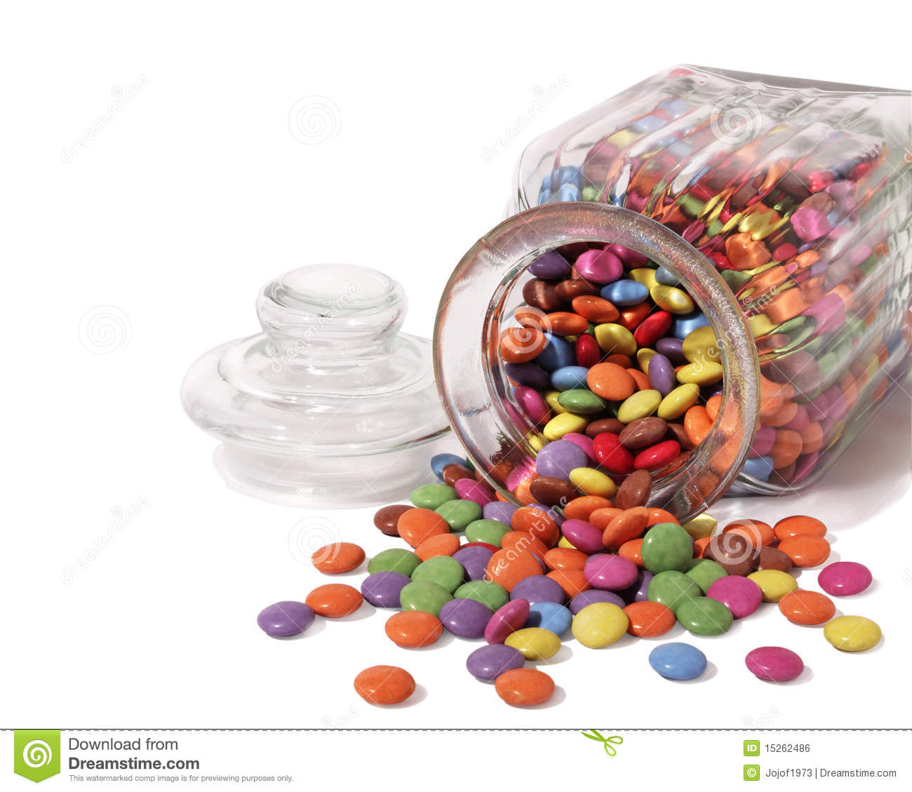 Sweet Jar With Sweets Spilling Out Royalty Free Stock