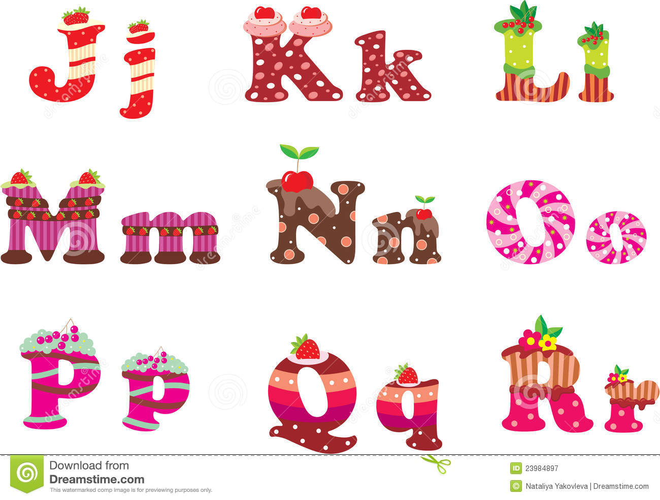 Sweet Letters Of The Alphabet Royalty Free Stock Photography - Image ...