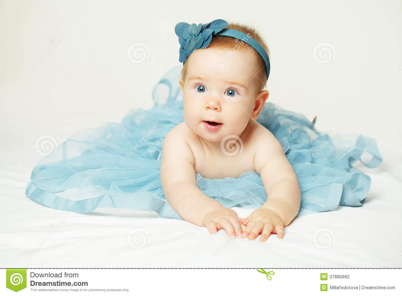 Sweet Little Baby Cute Small Girl Stock Photography