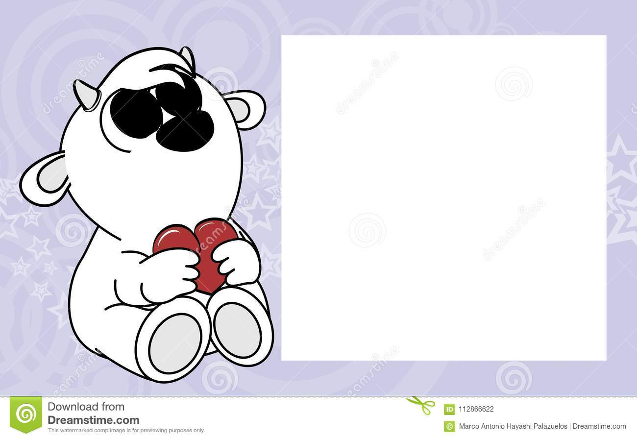Sweet Little Baby Goat Valentine Picture Frame Background Stock ...