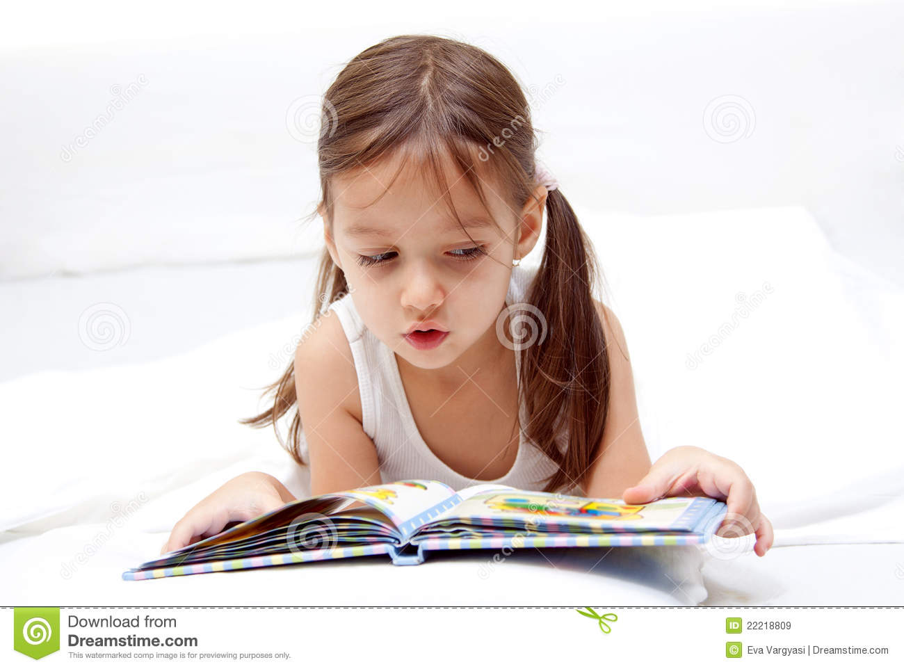 little girl reading book nude