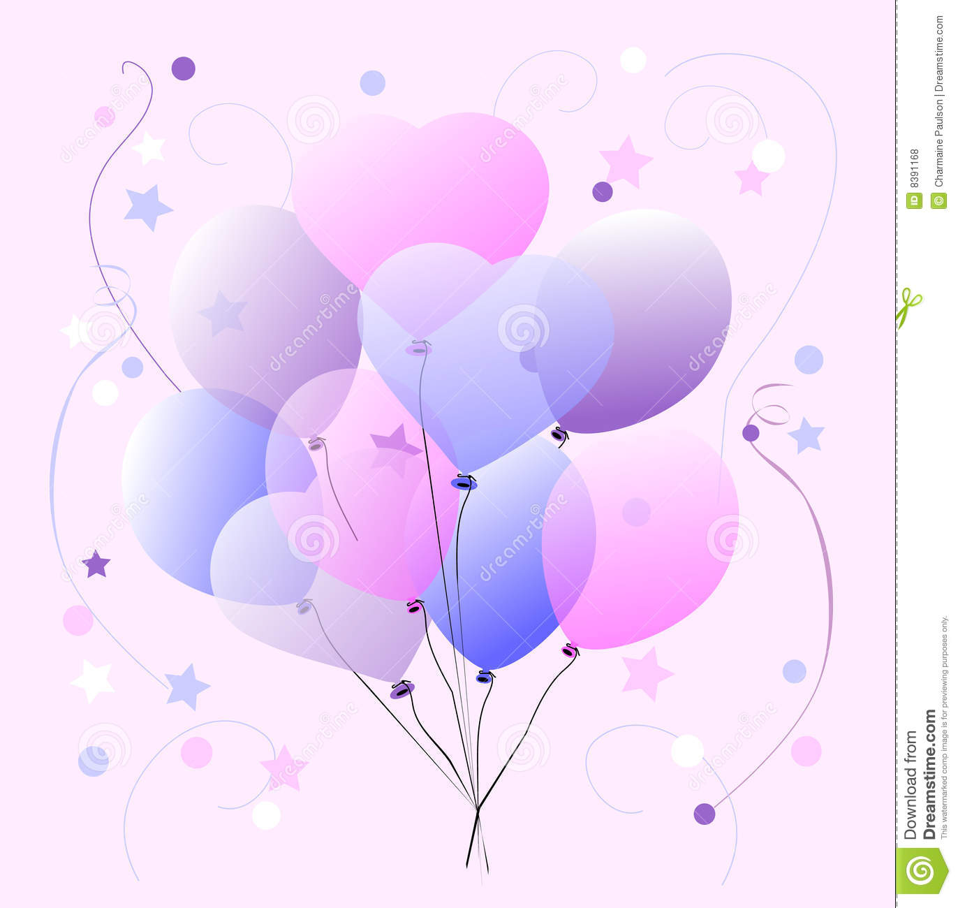 Sweet Pastel Balloons Royalty Free Stock Photos - Image: 8391168