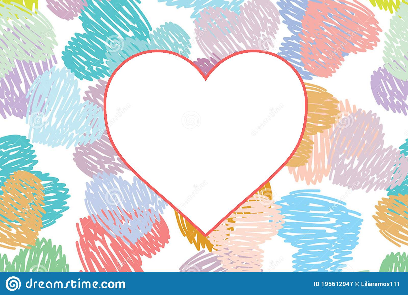 Sweet Pastel Color Heart Romantic Wallpaper Stock Image Image Of Abstract Pattern 195612947