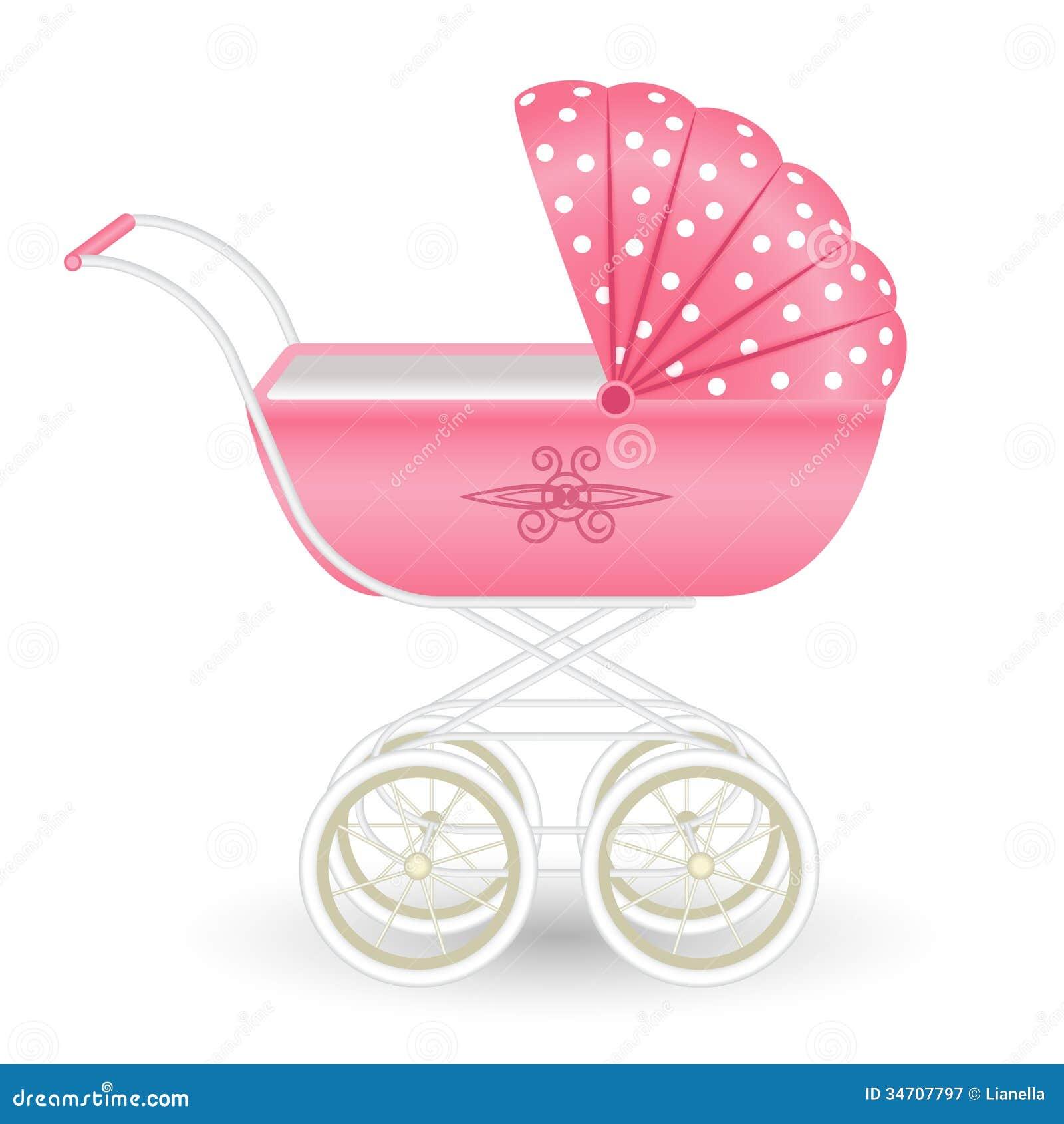 Sweet Pink Pram Royalty Free Stock Photography Image