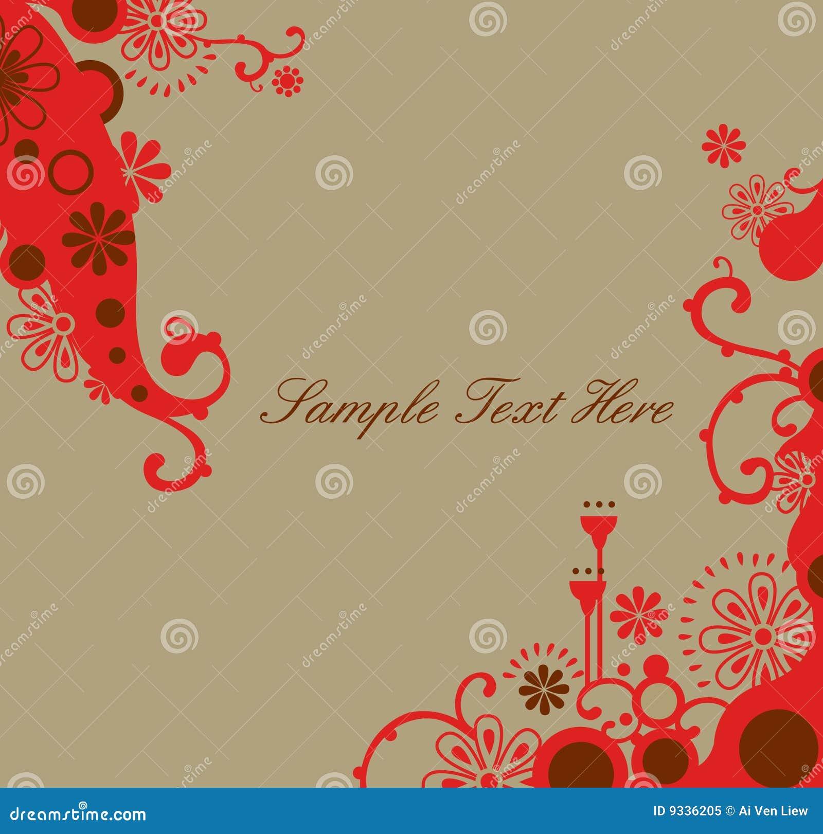 sweet red border design royalty free stock photo