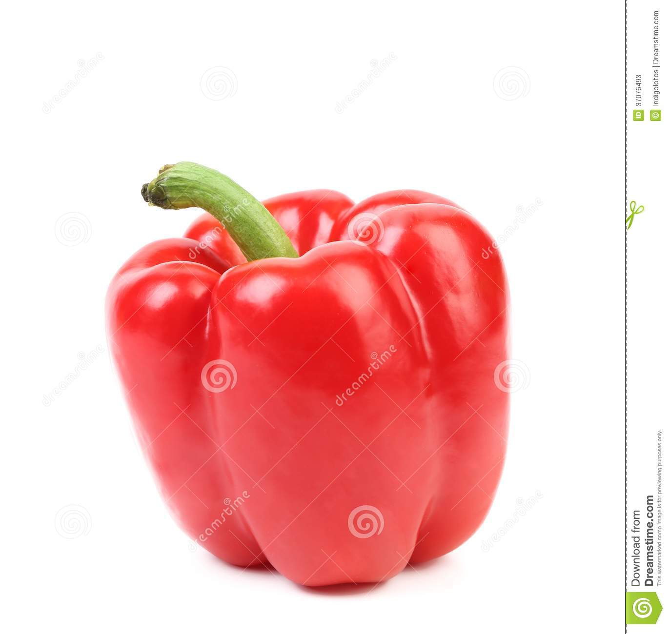 Sweet red pepper. Isolated on a white background.