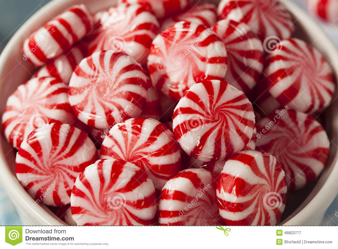 Sweet Red And White Peppermint Candy Stock Image Image Of