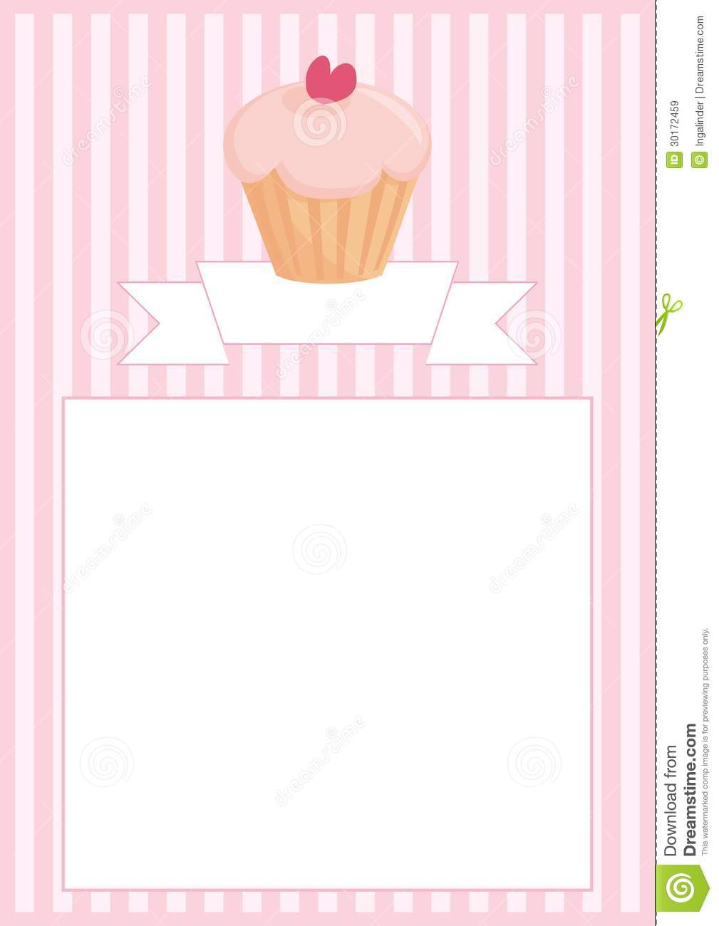 Sweet Vector Retro Cupcake On Pink Vintage Strips Royalty Free Stock Images