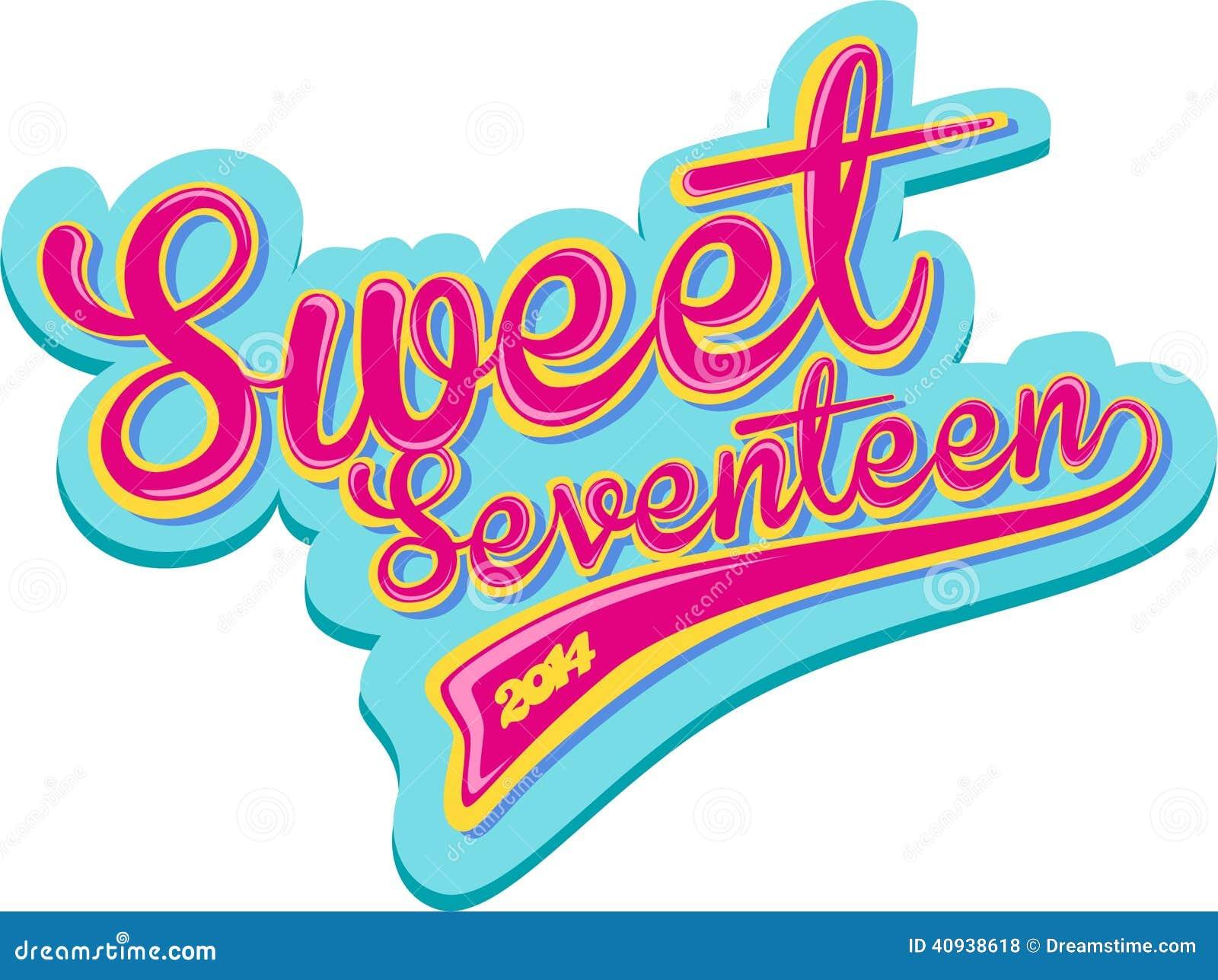 sweet seventeen retro design stock illustration illustration of retro stars 40938618 dreamstime com