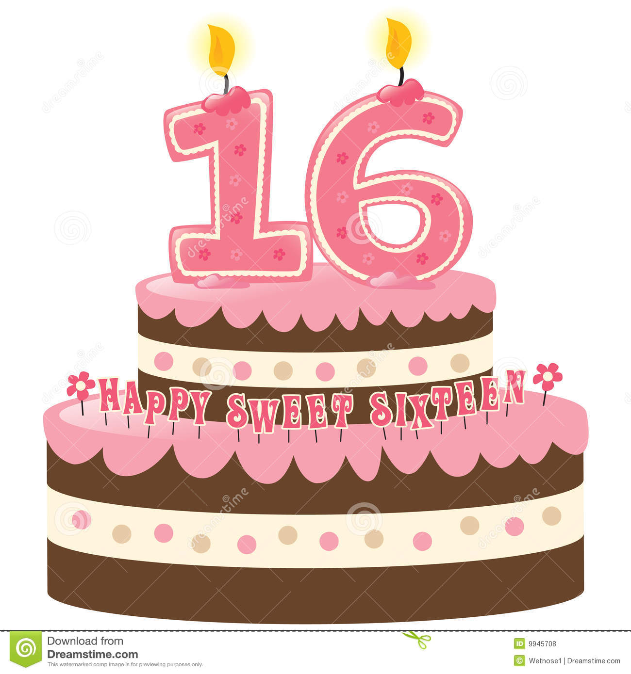 Sweet Sixteen Birthday Cake Royalty Free Stock Photos Image 9945708